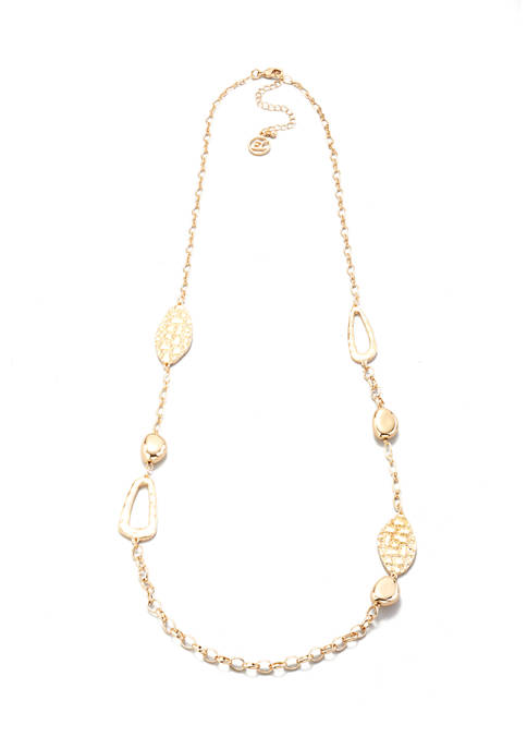 Chain and Medallion Long Necklace