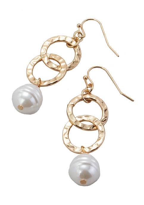 Link Pearl Earrings