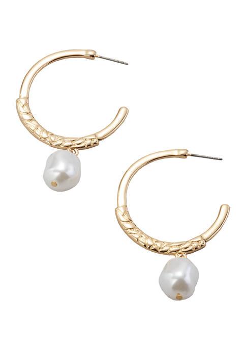 Hoop with Bead Earrings