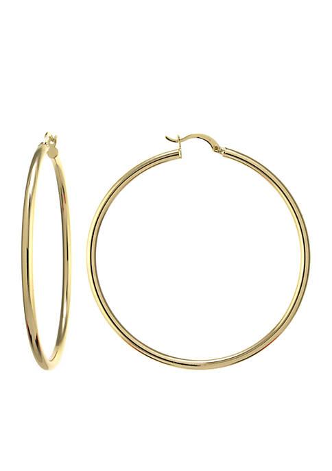 Belk Silverworks Fine Silver-Plated Click-Top Hoop Earrings