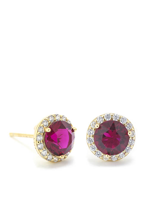 Sterling Silver Swarovski Crystal With Cubic Zirconia Halo Stud Earrings