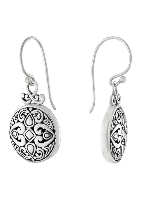 Infinity Silver Sterling Silver Bali Round Filigree Drop