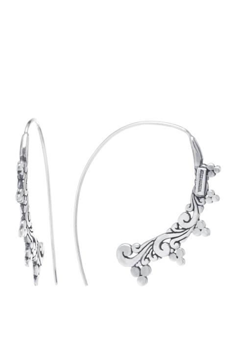 Infinity Silver Sterling Silver Bali Filigree Threader Earrings