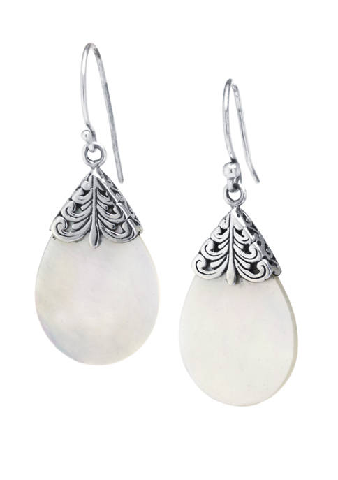 Infinity Silver Sterling Silver Bali Mother of Pearl