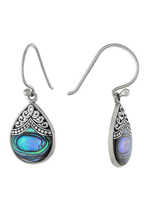 Infinity Silver Oxidized Sterling Silver Abalone Filigree