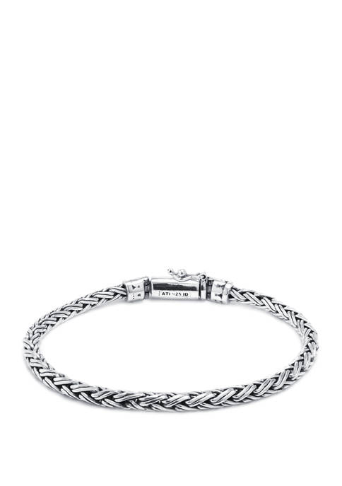 Infinity Silver 7.5 Inch Sterling Silver Bali Double
