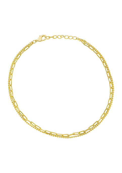 Belk Silverworks Yellow Gold Over Fine Silver Plated