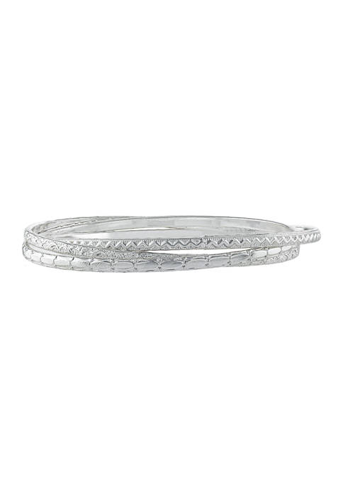 Athra NJ Set of 3 Fine Silver Plated