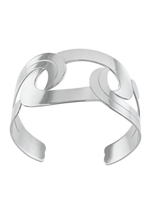 Athra NJ Fine Silver Plated Swirl High Polished