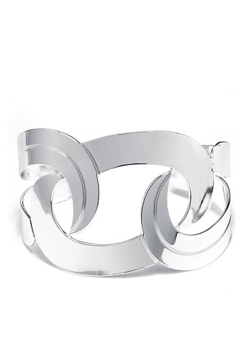 Belk Silverworks Fine Silver Plated Swirl Cuff Bracelet