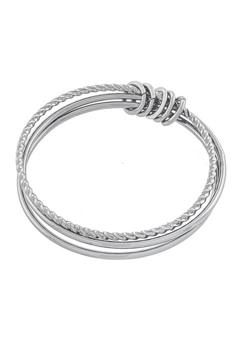 Athra NJ Fine Silver Plated High Polished and