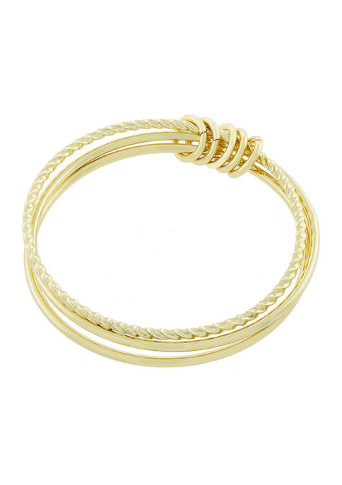 Belk Silverworks Yellow Gold Fine Silver Plated Twisted