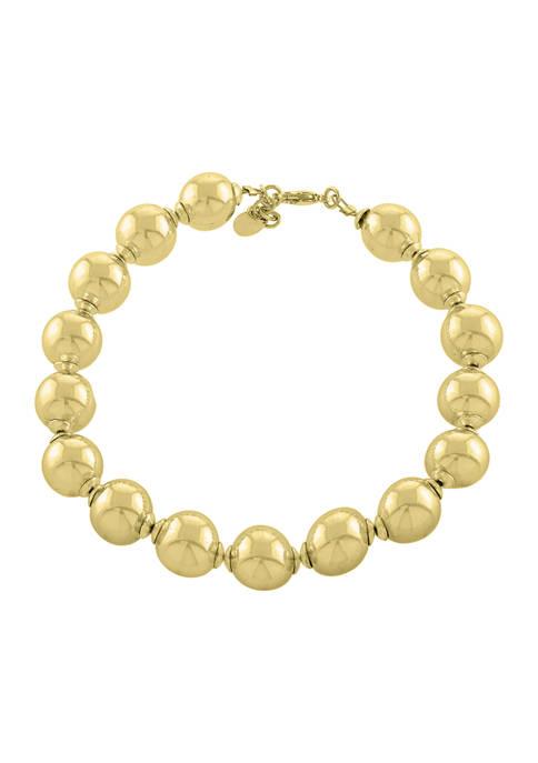Belk Silverworks High Polished Multi Ball Bracelet in
