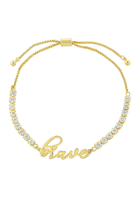 Belk Silverworks Yellow Gold Fine Silver Plated Cubic