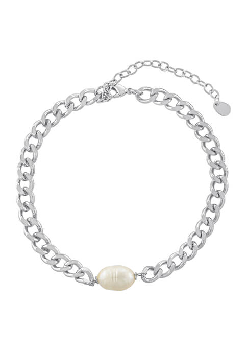 Belk Silverworks Fine Silver Plated Single Freshwater Pearl