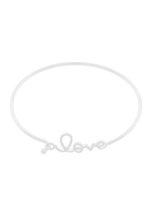 """Belk Silverworks Boxed Fine Silver Plated """"Love"""" Hook"""