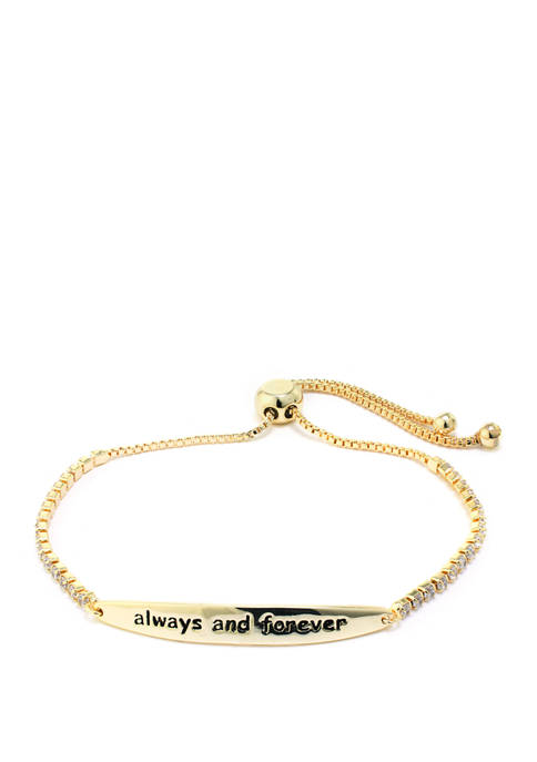 "Belk Silverworks Gold Over Sterling Silver ""Always and"