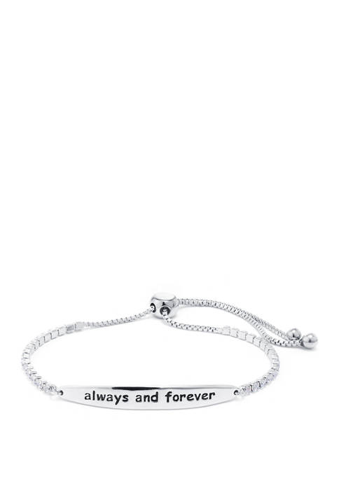 "Belk Silverworks Boxed Fine Silver Plated ""Always and"