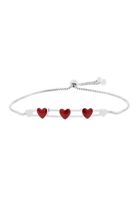 Belk Silverworks Boxed Fine Silver Plated Heart Bar