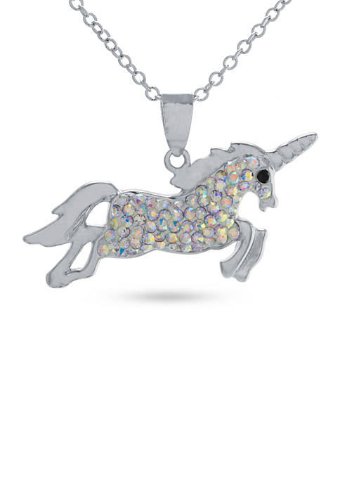 Belk Silverworks Silver-Plated Unicorn Pendant Boxed Necklace