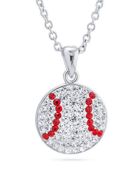 Belk Silverworks Silver Plated Clear Crystal Baseball Chain
