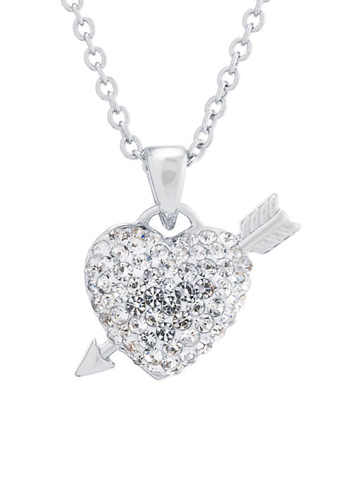 Belk Silverworks Fine Silver Plated Crystal Pave Heart