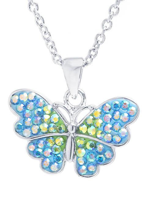 Belk Silverworks Silver Tone Crystal Pavé Butterfly