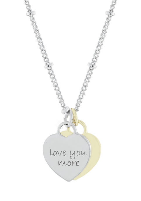 """Belk Silverworks Boxed Fine Silver Plated """"Love You"""
