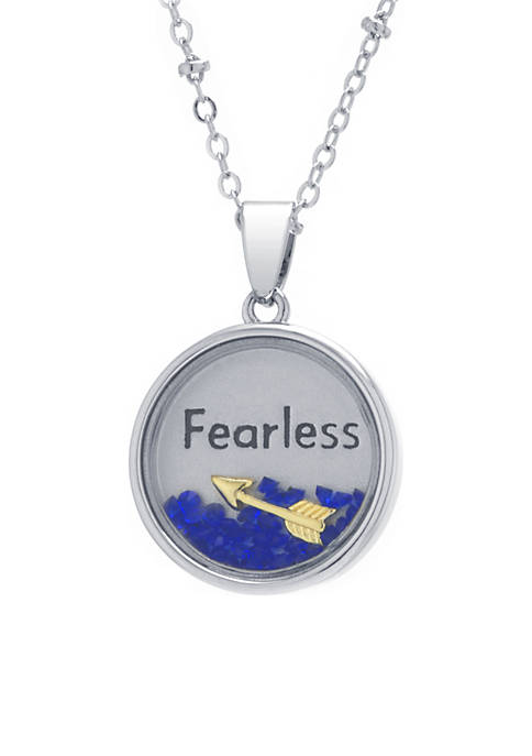 Silver-Plated Fearless Round Shaker Necklace