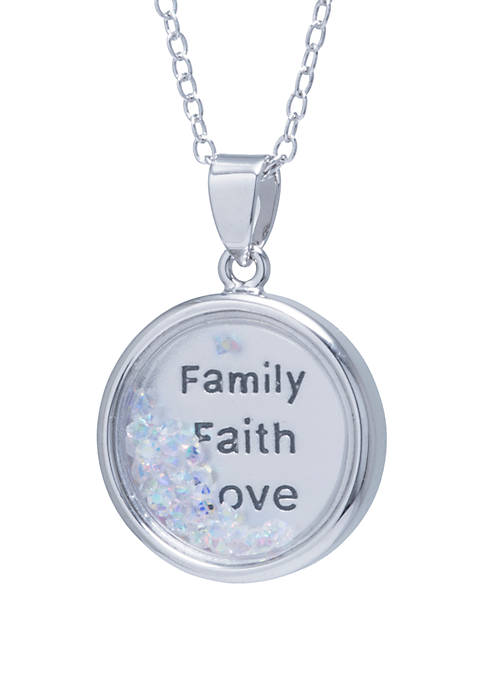 Belk Silverworks Boxed Fine Silver Plated Family Faith