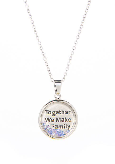 Together We Make A Family Shaker Necklace