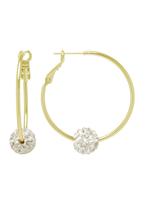 Belk Silverworks Yellow Gold Fine Silver Plated Crystal