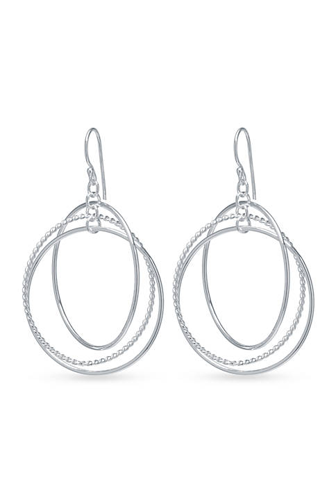 Belk Silverworks Triple Circle Drop Earring in Fine