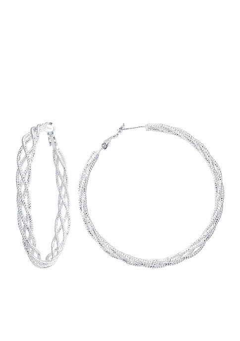 Belk Silverworks Fine Silver Plated Diamond Cut Braided