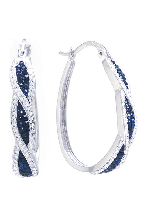 Belk Silverworks Fine Silver Plated Dark Blue Crystal