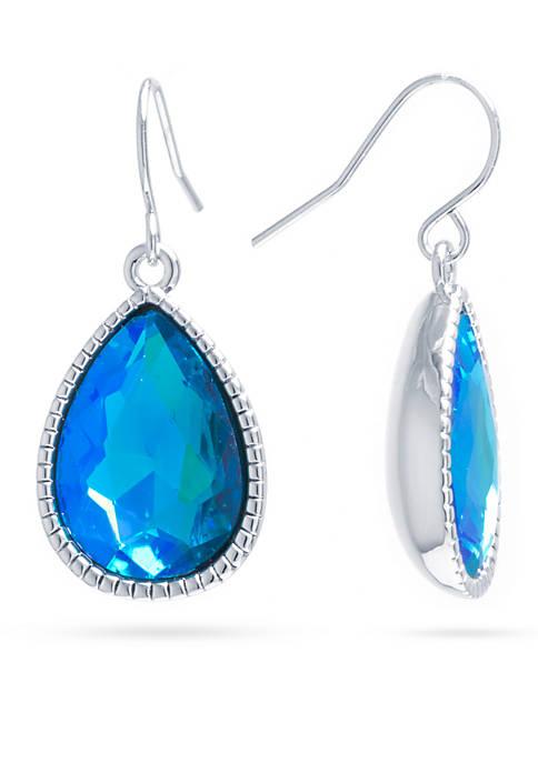 Belk Silverworks Silver-Plated Aqua Aurora Borealis Crystal