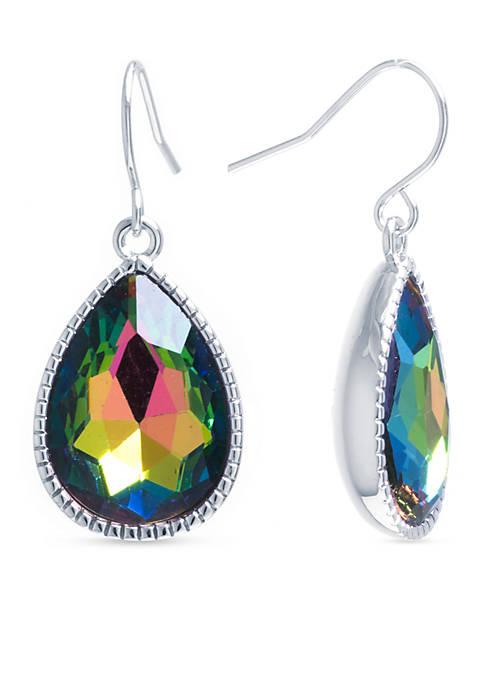Belk Silverworks Silver-Plated Rainbow Mystic Topaz Crystal