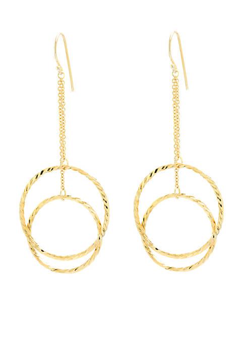 Belk Silverworks Basic Gold-Tone Double Open Circle Drop