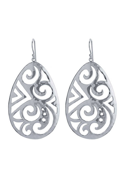 Belk Silverworks Silver-Tone Artisan Filigree Drop Earrings