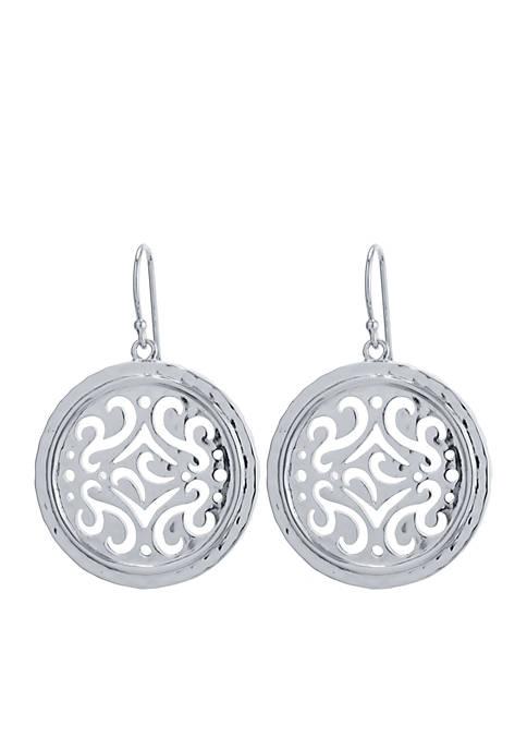 Belk Silverworks Silver-Tone Filigree Artisan Drop Earrings
