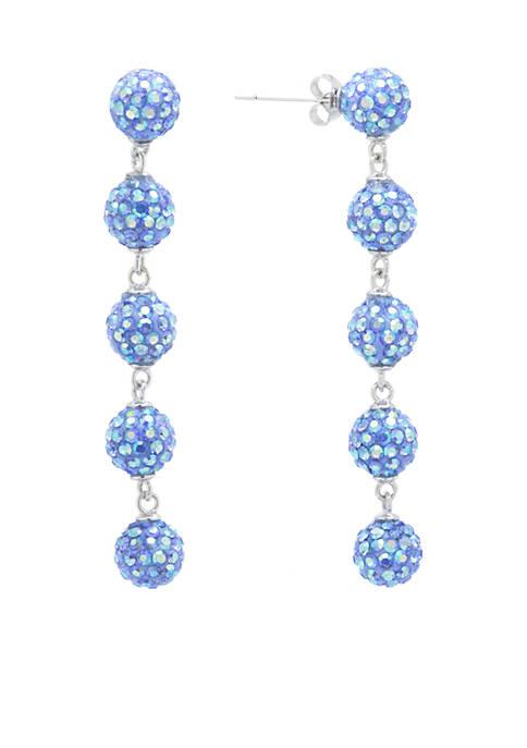 Belk Silverworks Fine Silver-Plated Light Blue Aurora Borealis