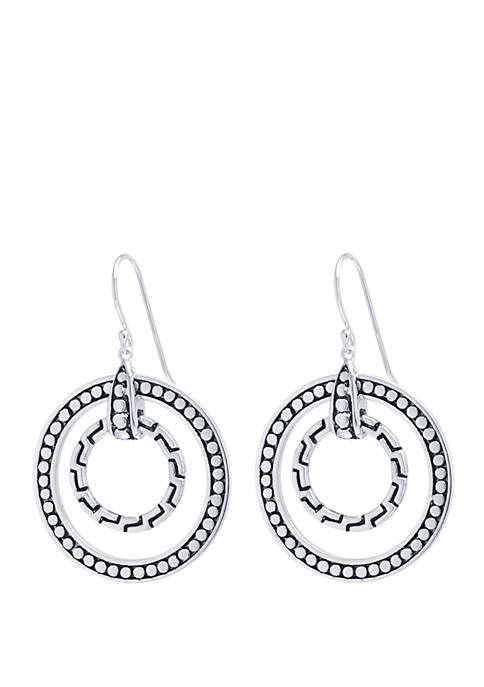 Belk Silverworks Fine Silver-Plated Bali-Inspired Circle Drop