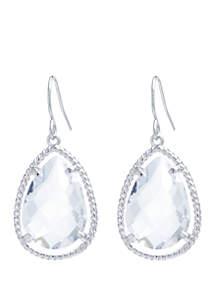 Belk Silverworks Fine Silver-Plated Teardrop Earrings