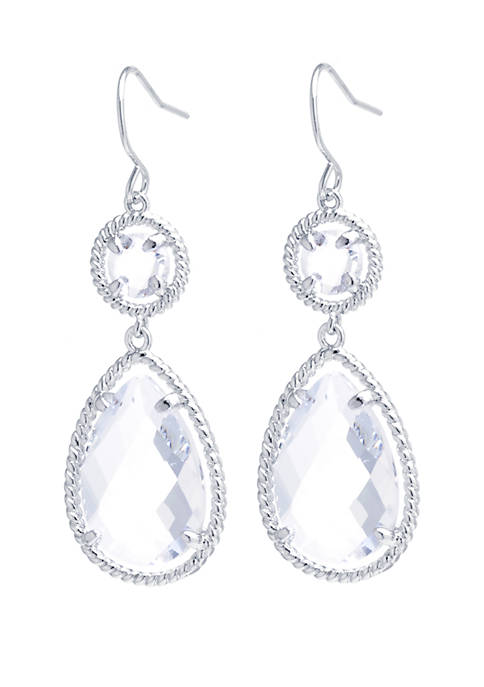 Belk Silverworks Fine Silver-Plated Crystal Faceted Double