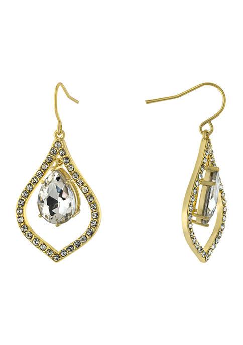 Belk Silverworks Gold Over Fine Silver Plated Crystal
