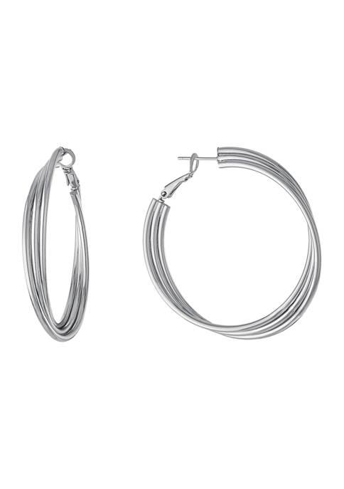Belk Silverworks 2 Inch Multi Row Clutchless Hoop