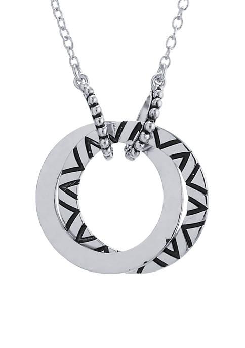 Belk Silverworks Fine Silver Plated Double Open Circle