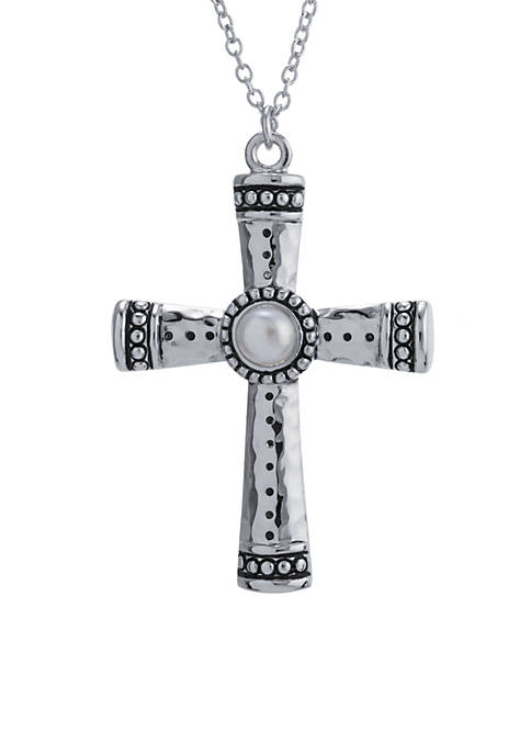 Belk Silverworks Fine Silver Plated Oxidized Cross With