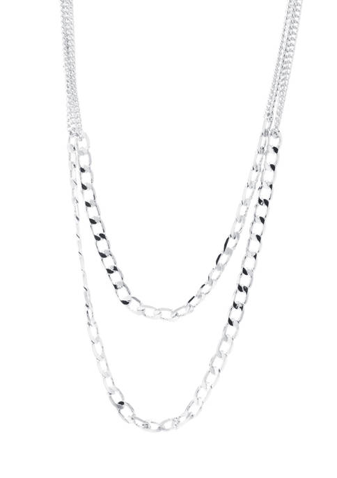 Belk Silverworks Silver Plated Two Layered Curb Link