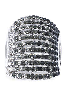 Belk Silverworks Silver-Plated Crystal Pave Ring